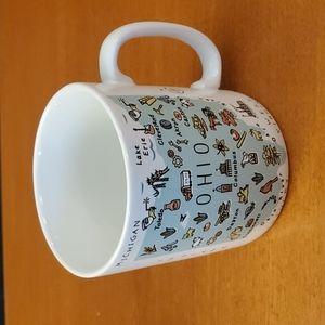 Jumbo OHIO Map Coffee Mug NWT